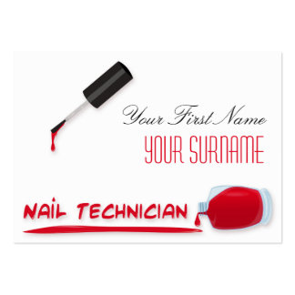 Bold Beauty Nail Salon Scarlet Red Polish Bottle Pack Of Chubby Business Cards