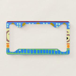 Bold Berimbau Tribal Pattern License Plate Frame
