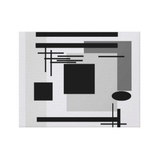 Bold black and grey abstract painting. canvas print