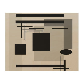 Bold black and grey abstract painting. wood canvases