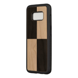 Bold Black and Transparent Checkered Rectangles Carved Samsung Galaxy S8 Case