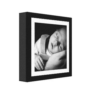 Bold Black and White Baby Mini Canvas