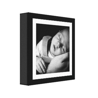 Bold Black and White Baby Mini Canvas Canvas Print