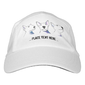 Bold Black and White Bullterrier faces Hat