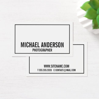 Bold Black and White Business Card