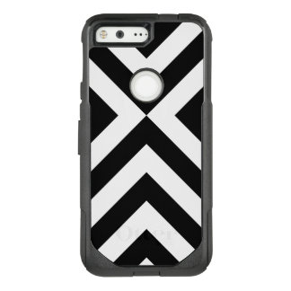 Bold Black and White Chevrons OtterBox Commuter Google Pixel Case