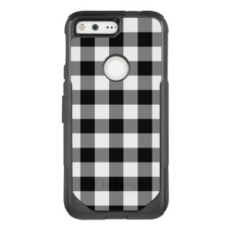 Bold Black and White Gingham Plaid OtterBox Commuter Google Pixel Case