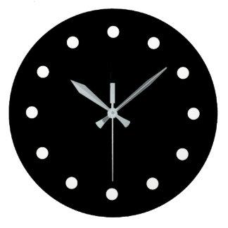 Bold Black and White Minimalist Clock