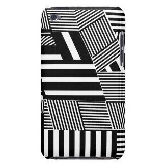 Bold  Black and White Stripe iPod Case-Mate Cases