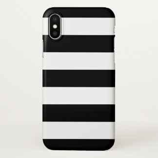 Bold Black and White Stripes Pattern iPhone X Case