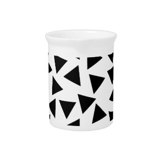 Bold Black and White Triangle Print Pitcher