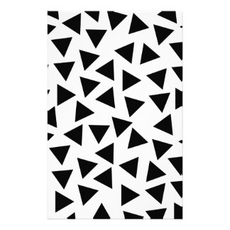 Bold Black and White Triangle Print Stationery