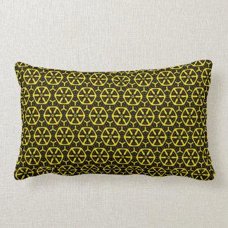 Bold Black and Yellow Honeycomb Pattern Lumbar Cushion