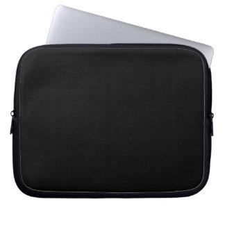 Bold Black Background Laptop Sleeve