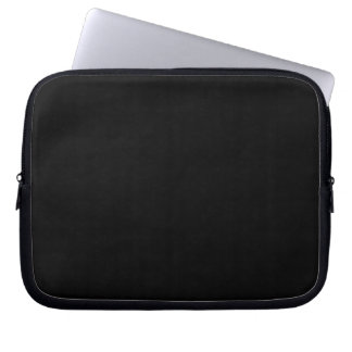 Bold Black Background Laptop Sleeves