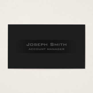 Bold Black Business Card