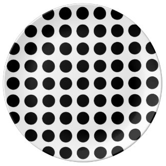 Bold Black Dots on White Plate