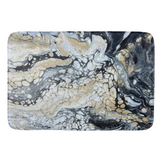 Bold Black Gold & White Large Bathmat