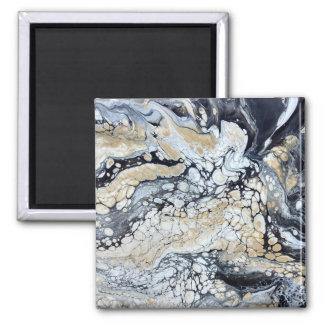 Bold Black Gold & White Magnet