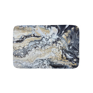 Bold Black Gold & White Small Bathmat
