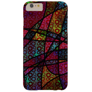 Bold Black Lines & Multicolored, Abstract Textures Barely There iPhone 6 Plus Case