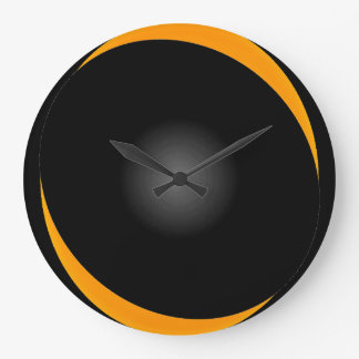 Bold Black Op Art Modern Illusion CricketDiane Large Clock