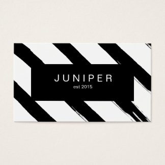 Bold Black Paint Brush Strokes Business Card
