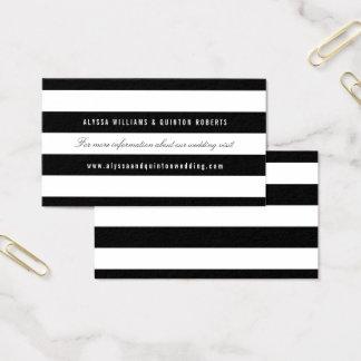 Bold Black Stripes Wedding Information Insert