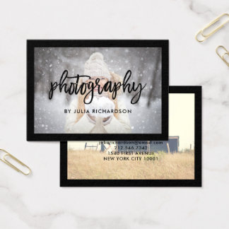 Bold Black   Two Photos for Photographers Business Card