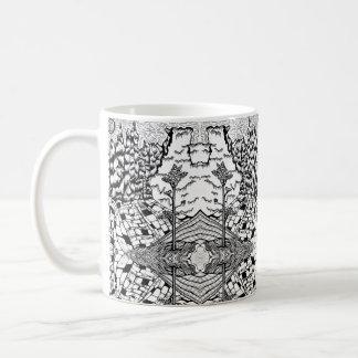 Bold Black White Nature Textures Coffee Mug