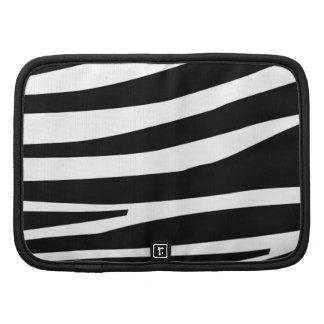 Bold black zebra stripes Rickshaw folio planner