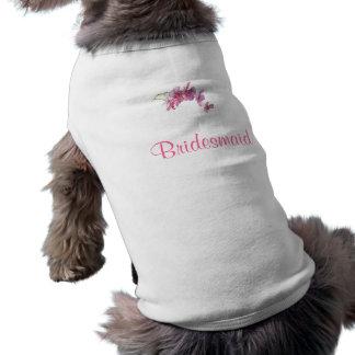 Bold Blooms Doggy Bridesmaid Dress Sleeveless Dog Shirt