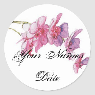 Bold Blooms Favours Sticker/Tag