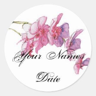 Bold Blooms Favours Sticker/Tag Round Sticker