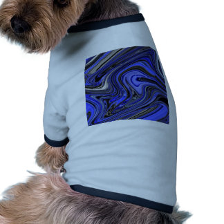 Bold Blue and Black Abstract Design Pattern Dog Clothing