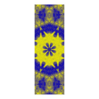 Bold blue and yellow kaleidoscope business cards