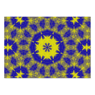 Bold blue and yellow kaleidoscope pack of chubby business cards