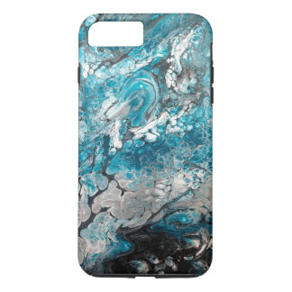 Bold Blue & Black Abstract iPhone Case