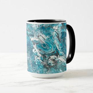 Bold Blue & Black Abstract Mug