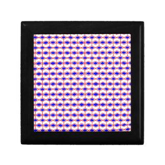 Bold Blue Irregular Patterns Small Square Gift Box