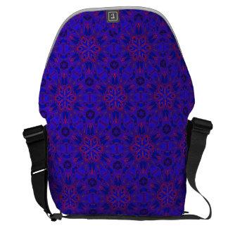 Bold Blue Kaleidoscope Messenger Bag