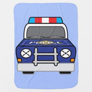 Bold Blue Police Patrol Car Baby Blanket