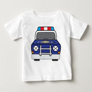 Bold Blue Police Patrol Car Baby T-Shirt