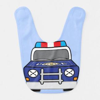Bold Blue Police Patrol Car Bib