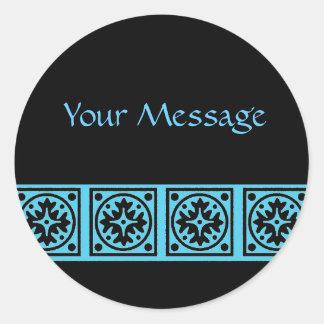 Bold Blue Round Sticker