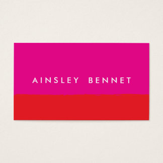 Bold Bright Color Block Business Cards