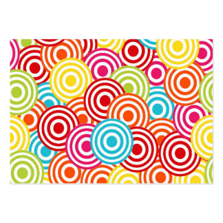 Bold Bright Colorful Concentric Circles Pattern Business Card