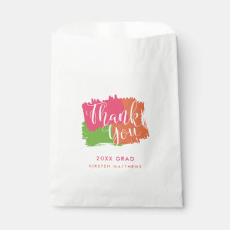 Bold Brush Strokes Graduation Party Favor Bags