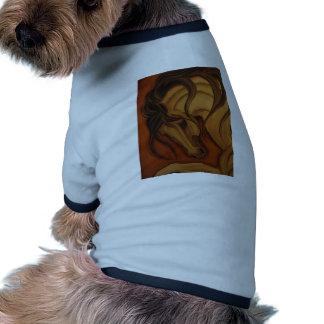 Bold Buckskin Horse Dog T-shirt