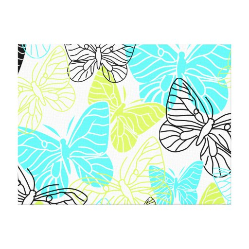 Bold Butterflies Stretched Canvas Prints